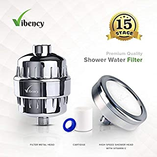 Shower Head Filter Water Softener Shower Head with Vitamin C Cartridge- Universal Shower System Removes Chlorine & Fluorides and Harmful Substances. Help Dry Skin & Hair Loss Solution