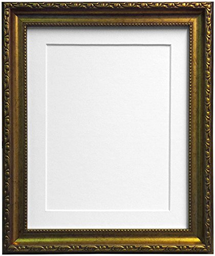 Frames BY POST fotolijst in shabby-chic-look Witte passe-partout 40 x 30 cm Image Size 12 x 10 Inches goud