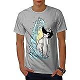 wellcoda Epico Barba Fricchettone Uomini Maglietta Shampooing T-Shirt con Stampa Grafica