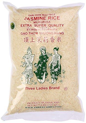 Three Ladies Jasmine Rice Long Grain 5 lbs (011109)