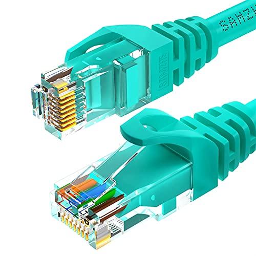 MCYAW Cable Redondo CAT6 Cable de Ethernet Cable Cable LAN RJ 45 Cable de conexión de Cable de Red para el enrutador portátil RJ45 Cable de Internet (Color : Green, Length : 30M)