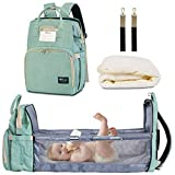 HappyLuoka Diaper Bag Backpack with Changing Station Cyan