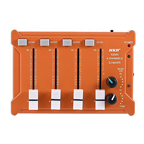 Review Homedoor US Shipping Professional Mini Pocket 4-Channel mono Stereo Audio DJ Sound Mixer USB ...