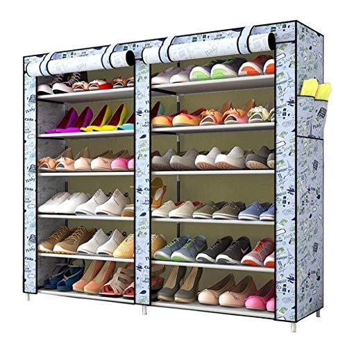 BaiJaC Estante de Zapatos, Gabinete de Zapatos a Prueba de Polvo 6 Niveles de Zapatos 36 Pares de Zapatos Organizador de Almacenamiento de Zapatos, 120 x30 x110cm (Color: a) (Color : C)