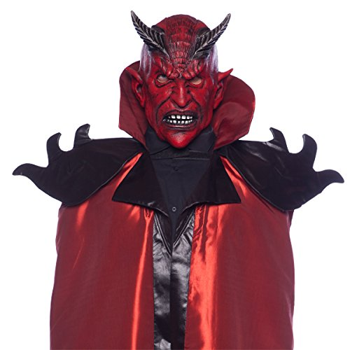 Folat 23825 Horror Latex Maske Grusel Teufel Halloween, Multicolor