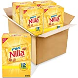 Nilla Wafers Mini Vanilla Wafer Cookies, 4 Boxes of 12 Snack Packs (48 Total Snack Packs)
