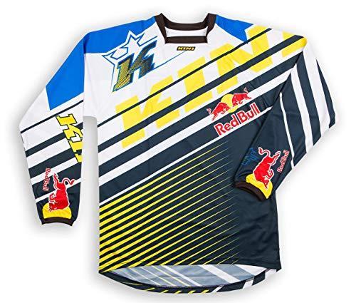 KINI 3L4016264 Equipamiento Piloto con Casco, Pantalon, Camiseta y Guantes, Talla L, Amarillo
