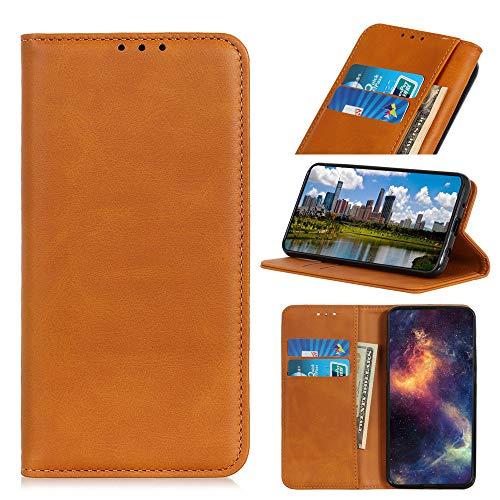 IMOK Funda para teléfono Nokia 7.3, Funda para teléfono Nokia 7.3 (con [Ranura para Tarjeta] y [Soporte]), Funda para teléfono con Funciones de Cuero avanzadas-marrón-marrón
