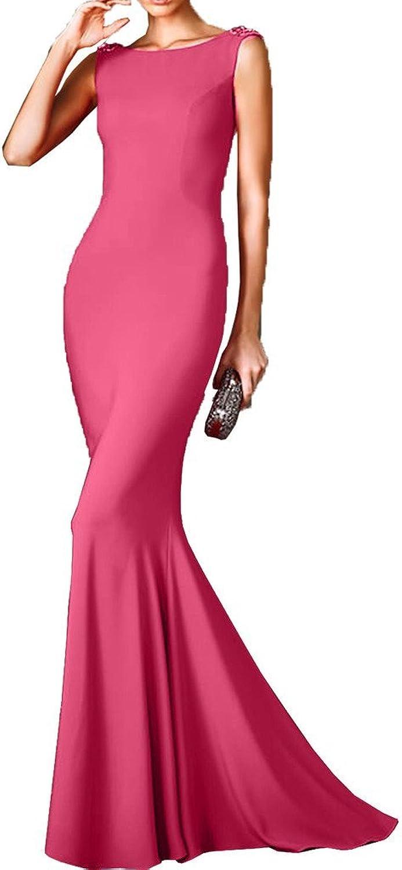 Avril Dress Sheath Mermaid Floor Length Sleeveless Prom Party Dress Open Back