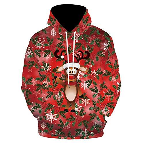 HUIYIYANG Tees Creative Cartoon 3D Digital Printing, Casual, Wide And Large-Size Hooded Sweater Man 88012 M