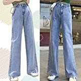 YOOAO Jeans Mujer Pantalones Largos Vaquero Femenino Streetwear High Cintura Mujeres Jeans Split Ropa (Color :...