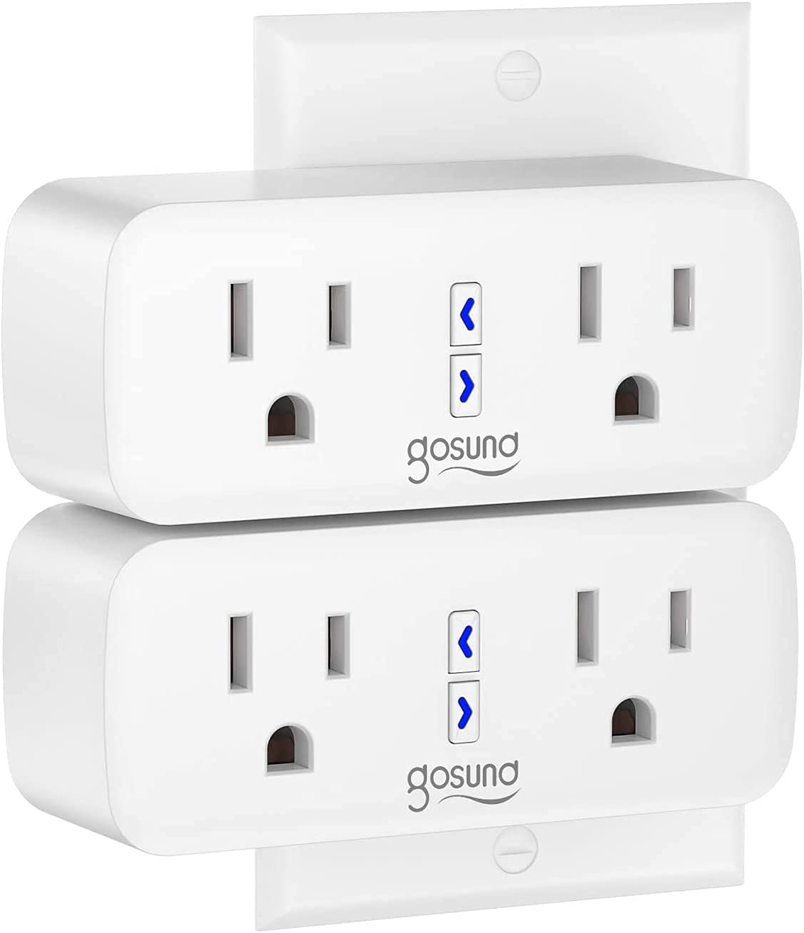 Smart Plug,Dual Plugs WiFi Outlet Smart Socket Work with Alexa, Google Home, Extenders, Timer, Control Independently or Together, 10A, No Hub Required, FCC Listed (2 Pack)