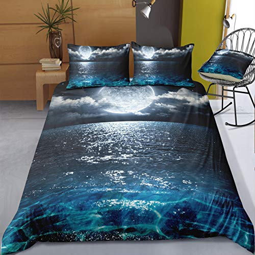 Playa Coconut Grove Sunset Seaside Waves Funda Nórdica Edredón Cinturón De Esquina Diseño Antideslizante con Cremallera Funda De Edredón Dormitorio En Casa Hotel Dormitorio De Estudiantes
