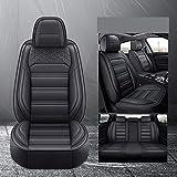Juego De Fundas De Cuero para Asiento De Coche para Ford Focus 2 3 S-MAX Fiesta Kuga 2017 Ranger Mondeo Mk3 Accesorios Fundas para Asiento De VehíCulo, Negro EstáNdar,