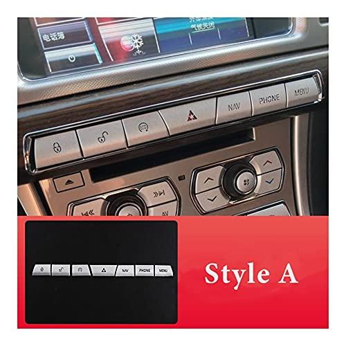 SUJIE Perilla de CA del Coche Control Central de automóviles Aire Acondicionado Botón Multimedia Pegatina Compatible con Jaguar XF 2012-2015 Accesorios Interiores de Estilo automático Durable