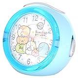 すみっコぐらし 目覚まし時計 アナログ LEDクロック 4曲メロディアラーム ドット ブルー