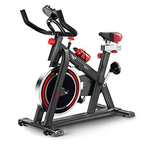 Yuefensu Bicicletas de ejercicio para el hogar se pueden utilizar para ejercicios aeróbicos en casa con una carga de 150 kg (color negro, tamaño: 103-119X50X97CM)