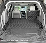 4Knines SUV Cargo Liner for Fold Down Seats - 60/40 Split and armrest Pass-Through fold Down Compatible - Black Small - USA Based Company