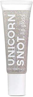 Unicorn Snot Holographic Glitter Lip Gloss, Vegan and Cruelty-Free, Silver, 0.34 Fluid Ounce