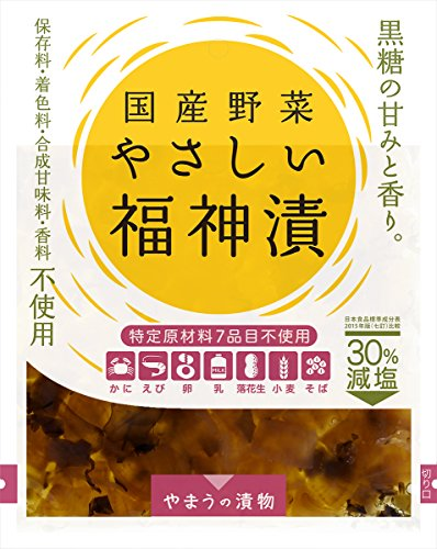 国産野菜 やさしい福神漬け 100g×6袋