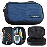ChillMED to-Go Medication Kit - Compact Cooler Bag to Organize Insulin, Migraine Medication, and More - Includes 3 oz Reusable Cold Pack - Up to 3 Hours of Cool Time (Blue)