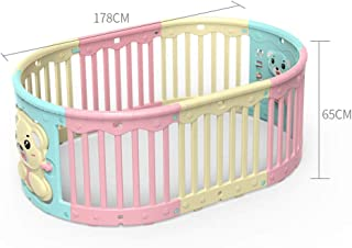 Hfyg Playpens Baby Playpen Strong and Durable Plastic Deluxe Playpen for Babies Toddler Newborn Infant Pets pens