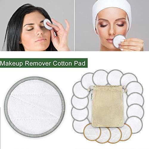 awhao-123 16pcs / Pack Coton Pad Remover - Pad Coton réutilisable sans Produits Chimiques pour la Peau Sensible cosmétiques Quotidiens Exceptional bearable