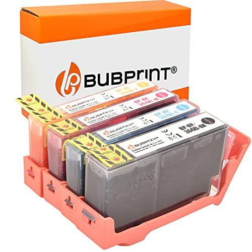 Bubprint Kompatibel Druckerpatronen als Ersatz für HP 364 XL 364XL für DeskJet 3070A 3520 OfficeJet 4620 4622 PhotoSmart 5510 5520 5524 6510 6520 7510 7520 B109-a B110 B110a C310a Schwarz 4er-Pack