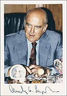 Prime Minister Andreas G. Papandreou (Greece) - Photograph Signed Circa 1988 with co-signers