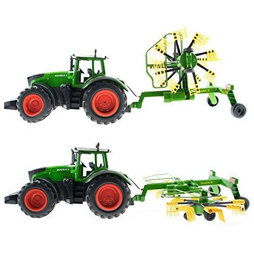 RC Auto kaufen Traktor Bild 6: efaso E351-003 1:16 2,4 GHz Ferngesteuerter RC Traktor Trecker mit Heuwender und Licht- und Soundeffekten - Komplett RTR*