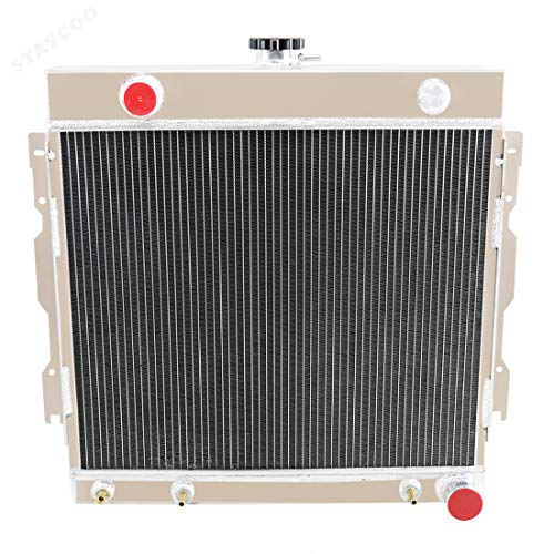 CoolingSky 2 Row All Aluminum Radiator for Dodge Plymouth D/W Series 100 200 300 Pickup Van, Ramcharger Charger More V8 Models 1970-1979