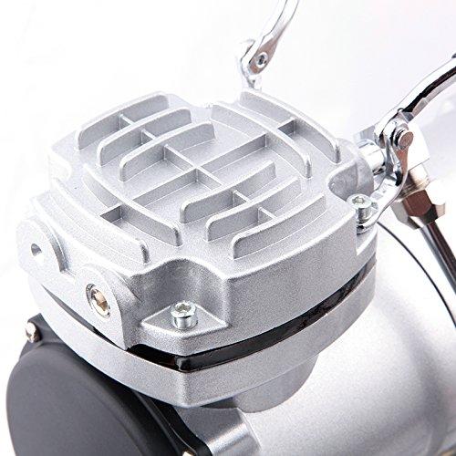 Fengda FD-186 Airbrush Kompressor mit Lufttank/Druckbehälter/ 4 bar / Auto Stop - 5