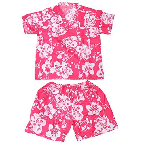 HEALLILY Bata de Baño Desechable Kimono Pijamas Spa de Hotel Pantalones Cortos Ropa de Salón Tintura para El Cabello Trajes para Mujeres (Rosa)
