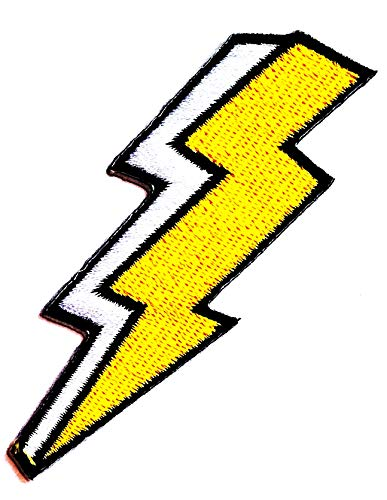 Lowest Prices! Nipitshop Patches Yellow Flash Storm Lighting Thunderbolt Cartoon Kids Patch Embroide...