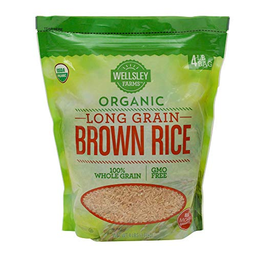 Wellsley Farms Organic LongGrain Brown Rice 4 lbs