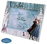 Disney Frozen Madera 1 Foto 2 Marcos de Fotos Decoraci├│n del hogar Unisex Adulto, Multicolor,...