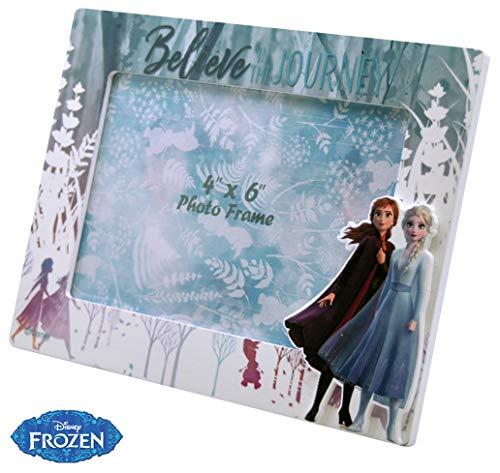 Disney Frozen Madera 1 Foto 2 Marcos de Fotos Decoración del hogar Unisex Adulto, Multicolor, Única