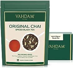 VAHDAM, India's Original Masala Chai Tea Loose Leaf | 50 cups, 3.53 oz - Blend of Black Tea, Cinnamon, Cardamom,Cloves & Black Pepper | Ancient Indian House Recipe of Spiced Masala Tea | Chai Latte Suited