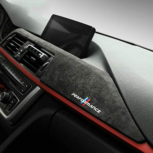 Alcantara Auto Armaturenbrett ABS Abdeckung, Auto Innen Aufkleber Dekoration, Für BMW F30 F31 F32 F34 F36 3GT 3 4er Zubehör (9002 Dark Grey)