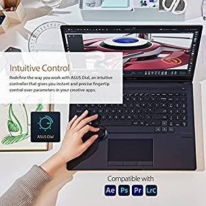 """ASUS ProArt StudioBook 16 OLED Laptop, 16"""" 3840x2400 OLED Display, AMD Ryzen 9, 32GB DDR4, 1TB PCIe SSD, Nvidia Geforce RTX 3060, Windows 11 Pro, H5600QM-XB94, Star Black"""
