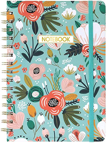 """Ruled Notebook/Journal - Lined Journal with Premium Thick Paper, 8.4"""" X 6.25"""", College Ruled Spiral Journal/Notebook, Banded with Exquisite Inner Pocket, Hardcover"""
