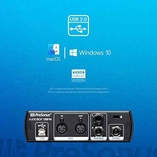 PreSonus AudioBox 96 Studio USB 2.0 Recording Bundle with Interface, Headphones, Microphone and Studio One Software, Blue
