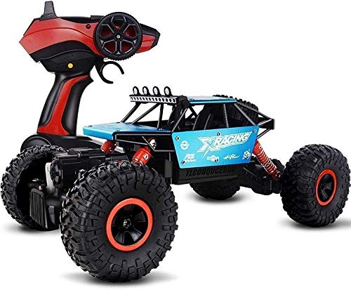 DJXWZX High Speed Big Foot RC Car 4WD Fast Speed 4x4RTR Sport Fahren Autos Doppel Motors Buggy Fernbedienung Monster Truck 2.4Ghz nachladbare Auto-Spielzeug 1/14 4WD Rock-Crawlers Geländewagen Spi