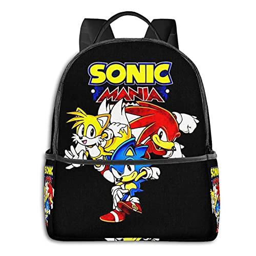 Sonic The Hedgehog - Mochila para niños y adolescentes, mochila para aligerar la escuela, multiusos, bolsa de hombro para nadar y viajar