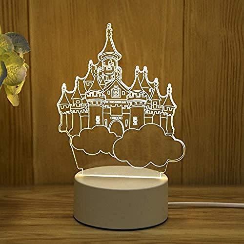 wangzj Gift-Castle in The Sky Luces de noche Lámpara pequeña Luces de interior Lámpara de noche Lámpara de mesita enchufable Lámpara de mesa 3D