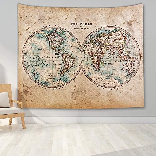 KHKJ Tapiz de Mapa del Mundo Mapa de Alta definición Tela Colgante de Pared decoración Mapa Carta Colgante de Pared A4 150x130cm