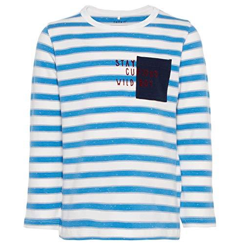 NAME IT T-shirt rayé à manches longues top bébé vêtements bébé, Cendre Blue