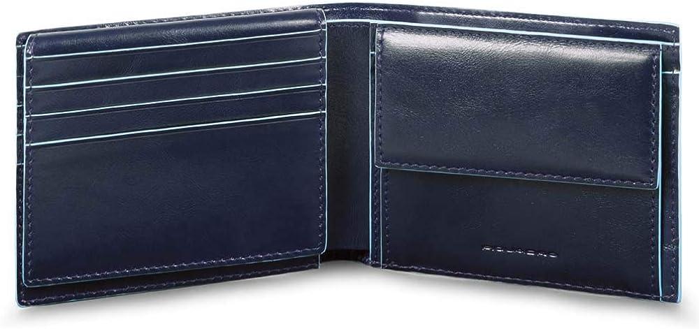 Piquadro, portafoglio da uomo, porta carte di credito, in pelle PU4518B2R