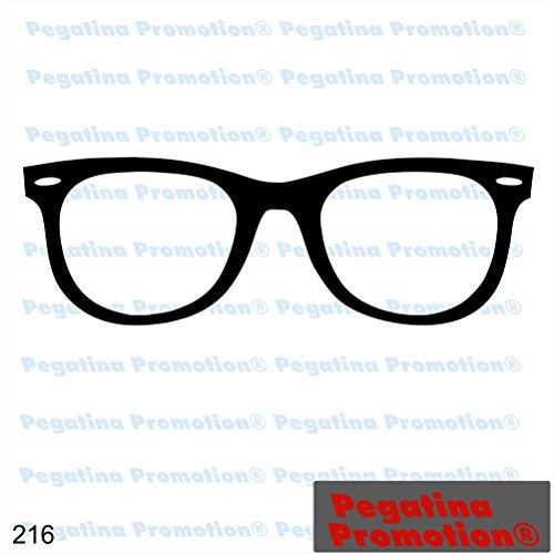 Piktogramm Typ 216 Icon Symbol Zeichen Brille Optiker Wayfarer Aufkleber Sticker ca.15cm von Pegatina Promotion® Aufkleber mit Verklebehilfe von Pegatina Promotion® ohne Hintergrund geplottet
