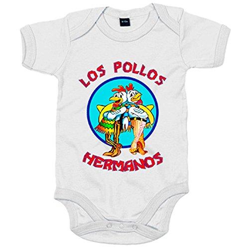 Body bébé Breaking Bad Los Pollos Hermanos 6-12 meses blanc
